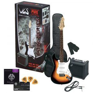 PURE GEWA E-guitar RC-100 Guitar Pack 3-Tone Sunburst