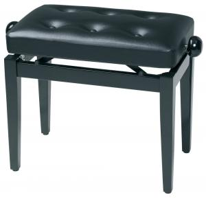 GEWA Piano bench Deluxe black high gloss Black cover made of artificial leather