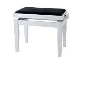 GEWA Piano bench Deluxe White matt Black cover