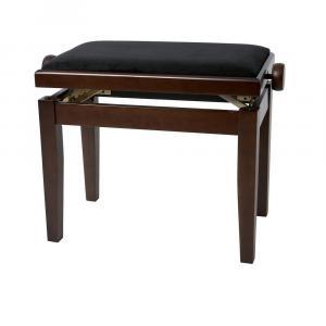 GEWA Piano bench Deluxe Walnut matt Black cover