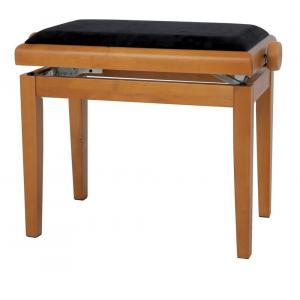 GEWA Piano bench Deluxe oak mat Black cover